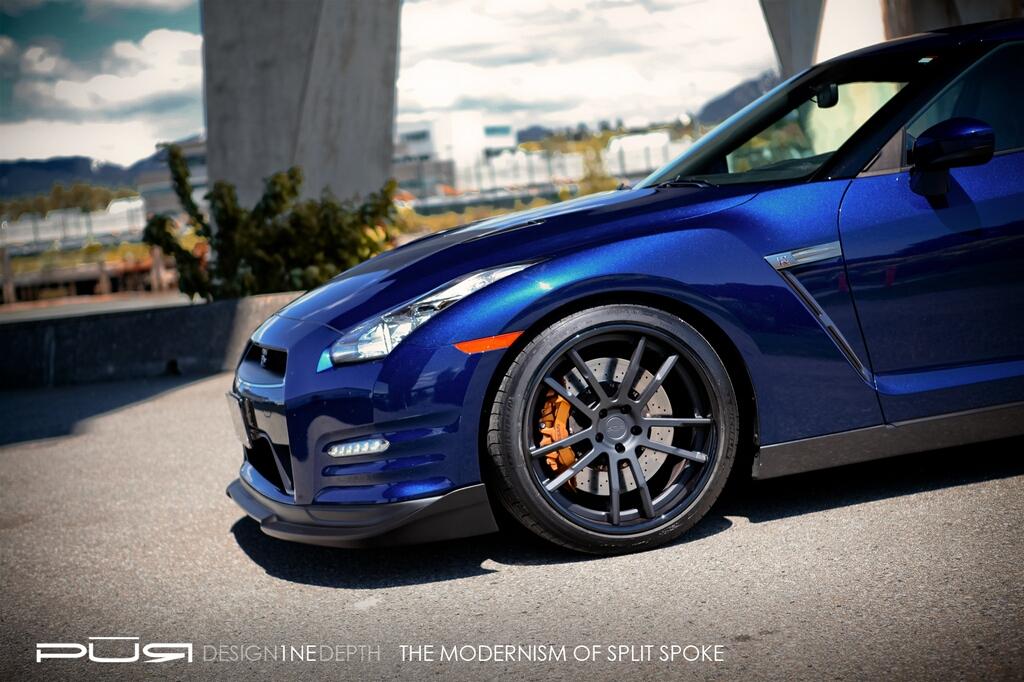 Nissan GT-R on PUR Wheels (2)